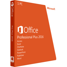 Microsoft Office Professional Plus 2016 Box